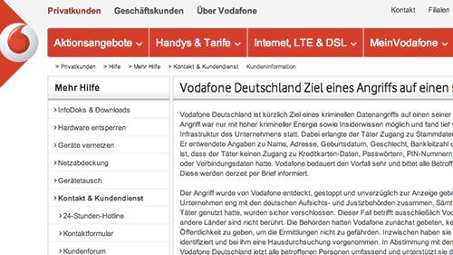 Vodafone Germany Statement