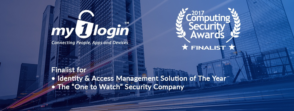 My1Login Finalist for Identity and Access Management Solution of the Year in the Computing Security Awards