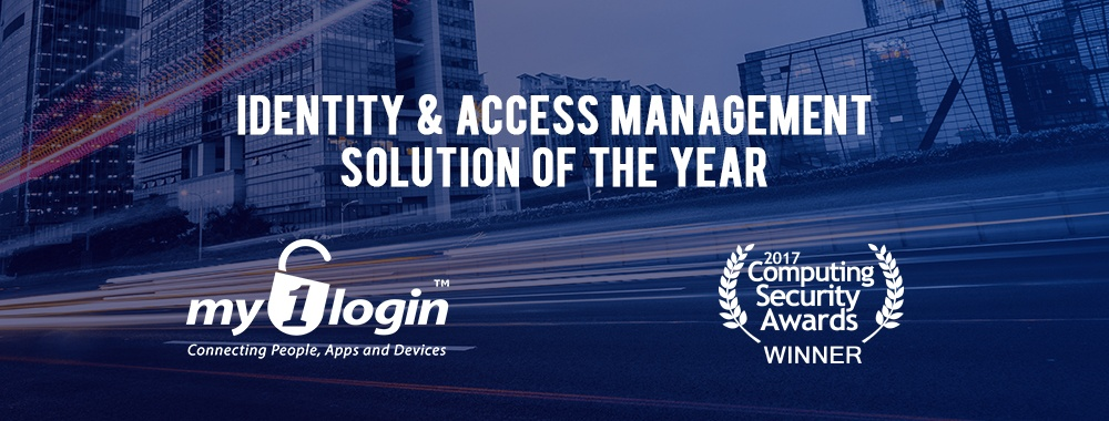 My1Login Wins Identity and Access Management Solution of The Year